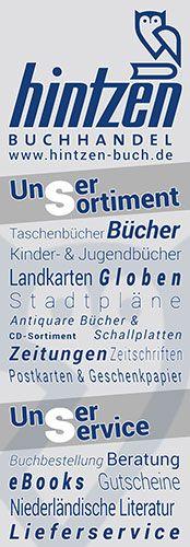 Buchhandel Hintzen Kleve - Abreiß-Flyer für eine Flyerwand