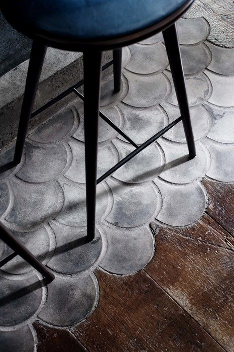 little things interiors on instagram f l o o r this cement fishscale tile which butts up to the wooden floor boards gives such an organic feel