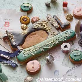 Форма Швейная машинка Зингер 15,5х11 см, Формы и трафареты, девочки, хобби,...