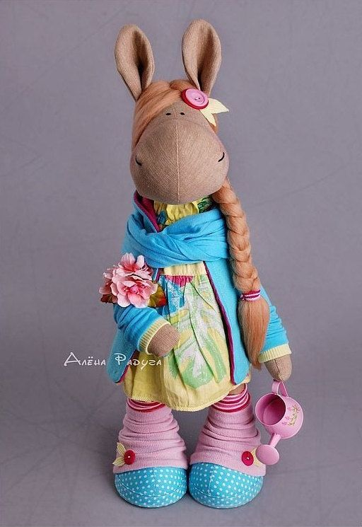 Horse doll Tilda doll Interior doll Art doll by AnnKirillartPlace