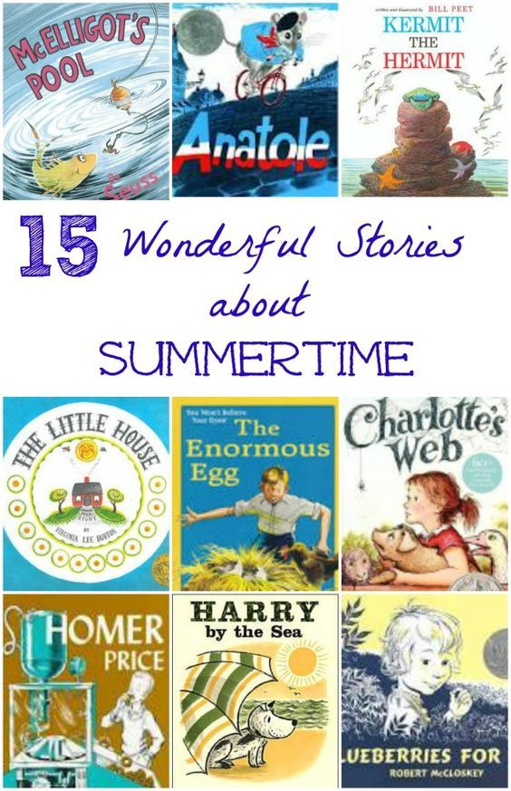 LOVE these classic kids books that focus on the wonderful parts of summer!  Great ones to add to the summer reading list