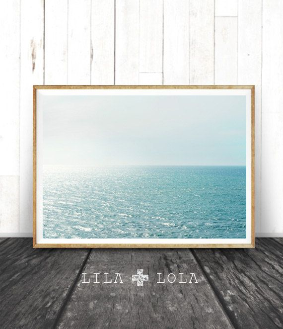 Beach Decor, Coastal Wall Art Print, Modern Minimal Photography, Ocean Water, Printable Instant Download, Beach Coastal Printable Photo