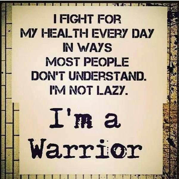 I'm not lazy, I'm an RSD Warrior