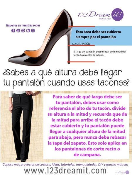 Sabías que existe una fórmula para conocer el largo adecuado del pantalón si utilizas tacones, da click en la imagen para conocerla.