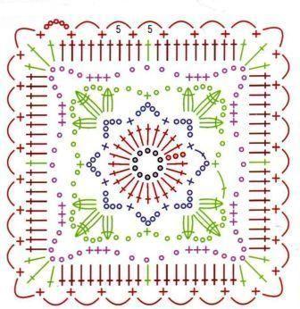 Вязание крючком мотивов с цветами. Обсуждение на LiveInternet - Российский Сервис Онлайн-Дневников