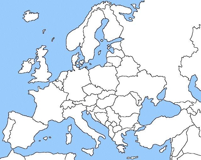 Blank European Map Europe Map Blank southern europe blank map blank map of