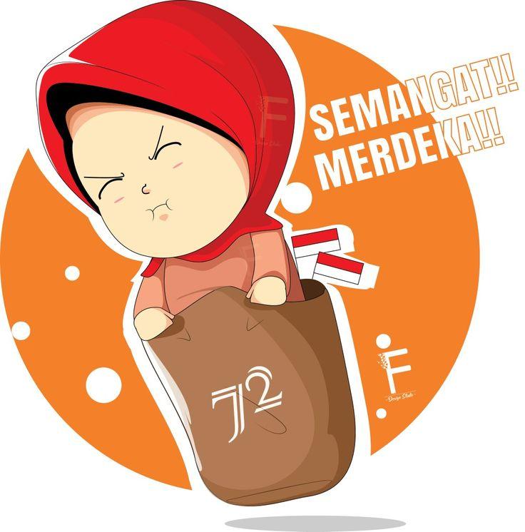 Kemerdekaan indonesia Balap karung Vector illustration