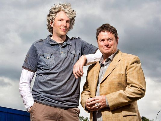 Wheeler Dealers: Edd China and Mike Brewer.  Edd China is leaving the show at the end of the 13th season.