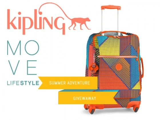 Kipling Suitcase Move LifeStyle Summer Giveaway