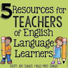 If you are a teacher, you will eventually need to have resources to help you teach students who are English Language Learners.  Here's ...