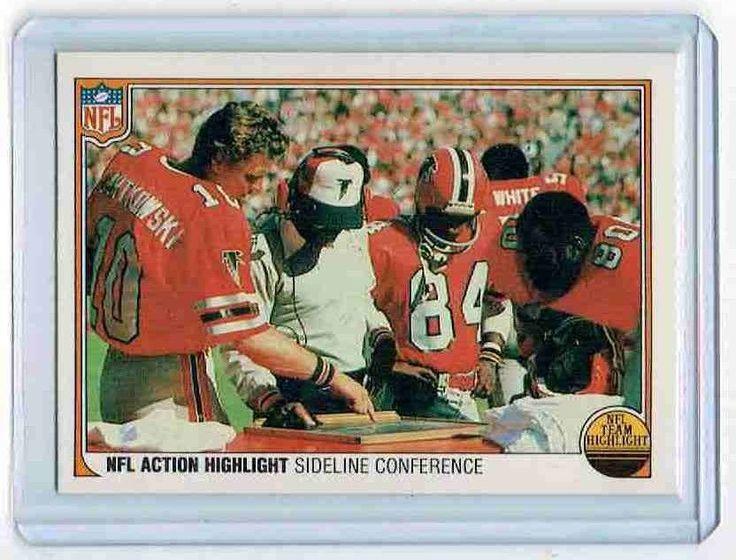 1983 Fleer Team Action #78 NFL Highlights Sideline Conference Atlanta Falcons #Fleer #AtlantaFalcons
