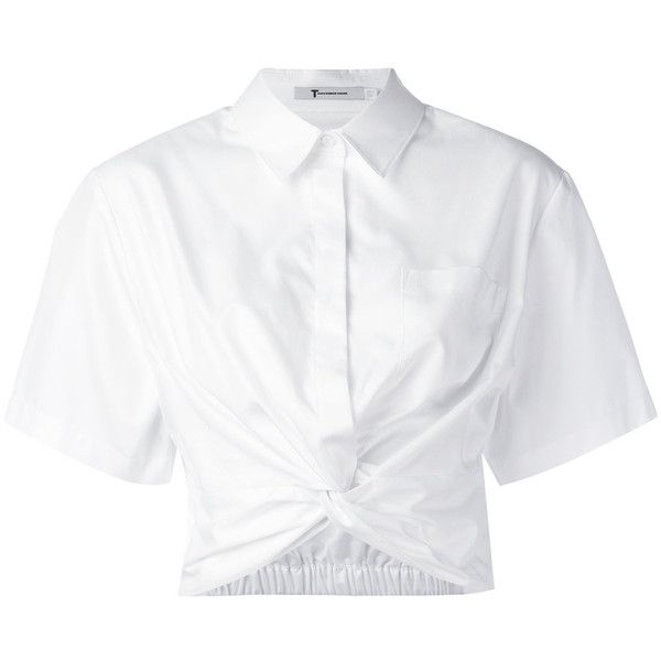 Best 25 white collared shirts ideas on pinterest for Cropped white collared shirt