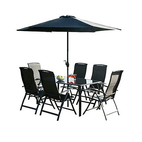 Debenhams Black 'Havana' rectangular table and 6 chairs- | Debenhams