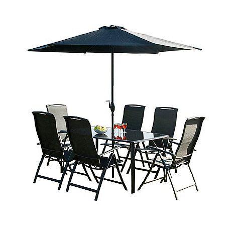 Debenhams Black 'Havana' rectangular table and 6 chairs-   Debenhams