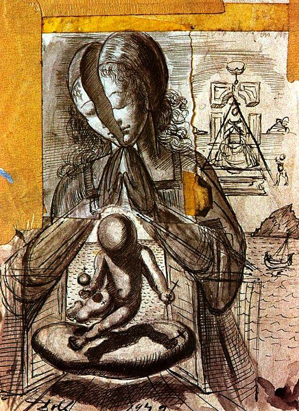 Salvador Dali, Study for 'The Madonna of Port Lligat', 1949