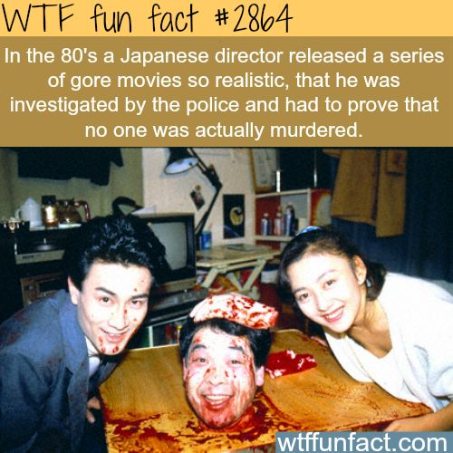 scary Japanese movies: Guinea Pig (film series) -  WTF fun facts