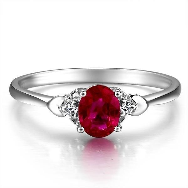 beautiful ruby in a simple and elegant ring band - Ruby Wedding Ring