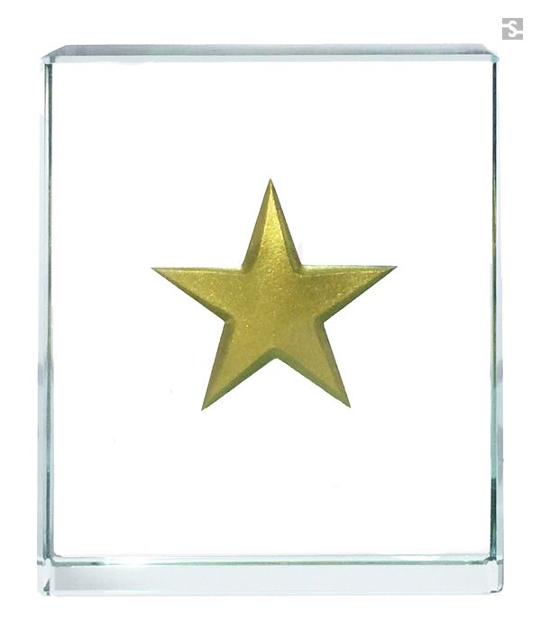 Gold Star Token by Spaceform. Click to view full collection of exclusive designs. Also available to personalise.