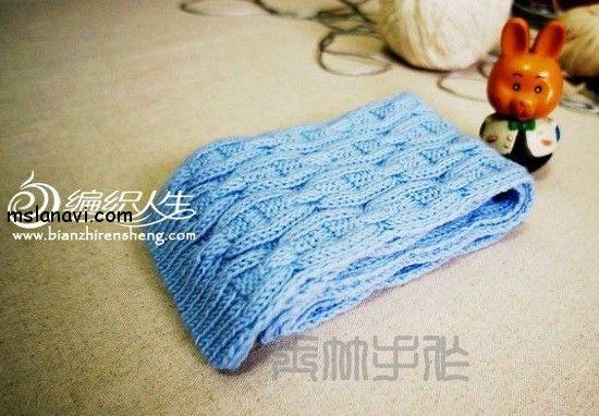 """Вязаный шарф спицами со схемой узора """"якорная цепь"""""""