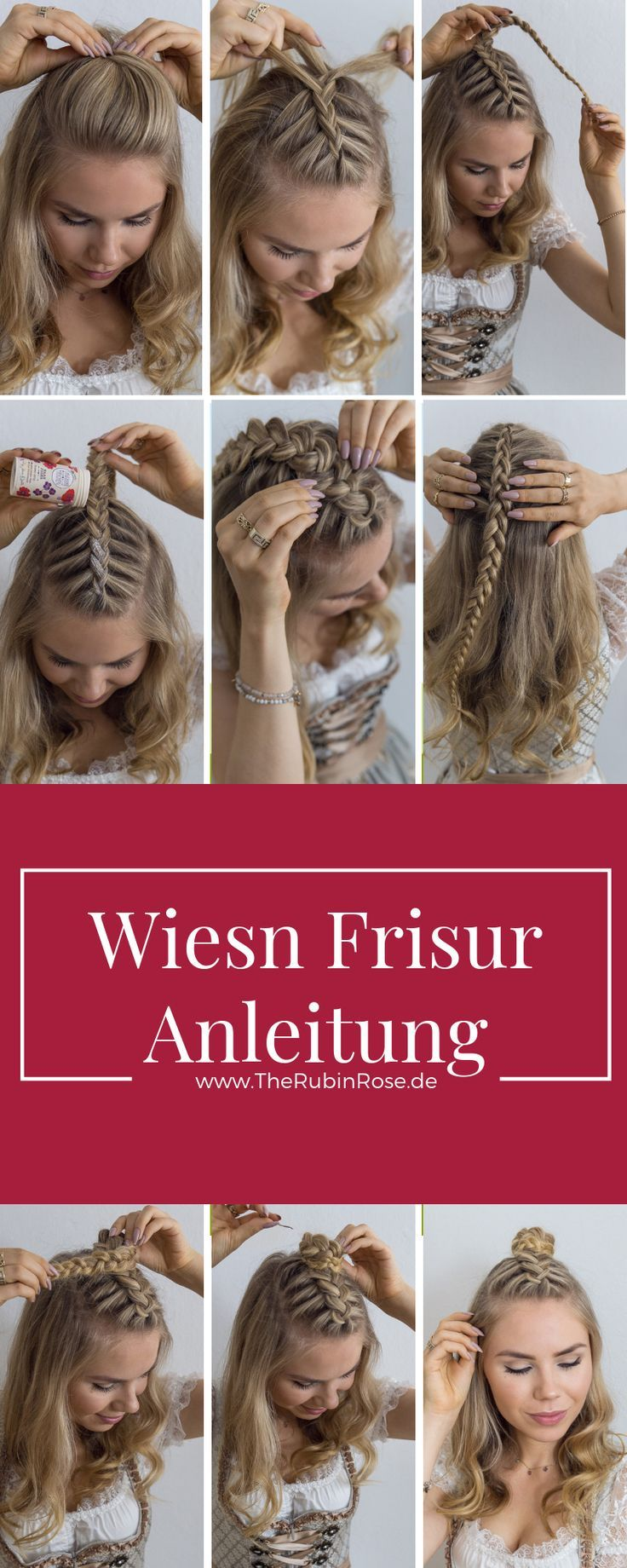 Dirndl hairstyle Instructions for medium-length hair – hairstyle
