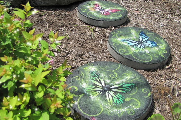 17 best images about hand painted stepping stone on - Hand painted garden stones ...
