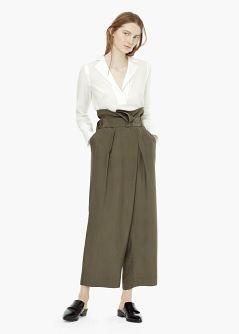 PREMIUM - Spodnie palazzo z tkaniny cupro