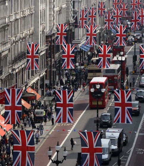 Regent Street, London- My school (the University of Westminister) is down this street on the left!!!