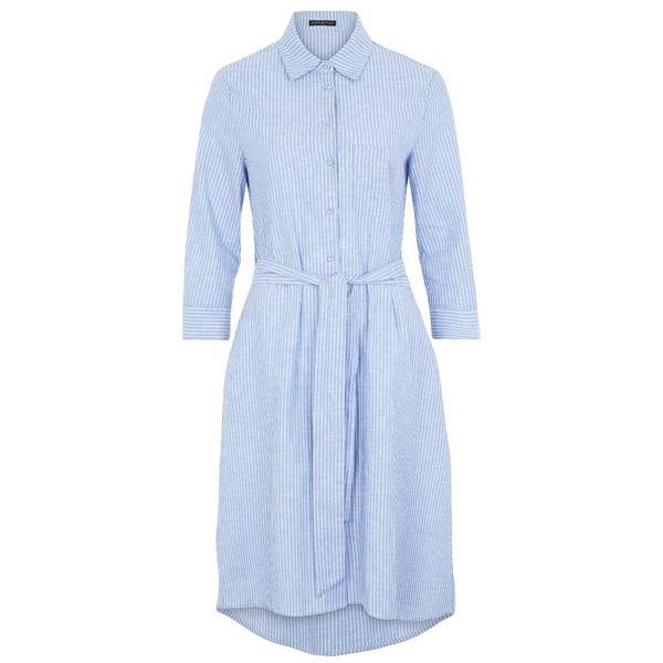 Apart Blusenkleid himmelblauweiß