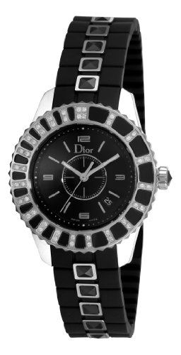 Christian dior women s cd113115r001 christal diamond black dial watch 2 save 1 for Christian dior watches