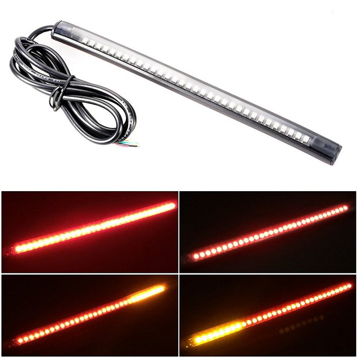 XCSOURCE Universal 32 LED 3528 SMD Flexible LED Tail Brake Stop Running Left/Right Turn Signal Integrated Light Strip Red+Amber for DC 12V Motorcycle Bike ATV Car MA615: Amazon.ca: Home & Kitchen