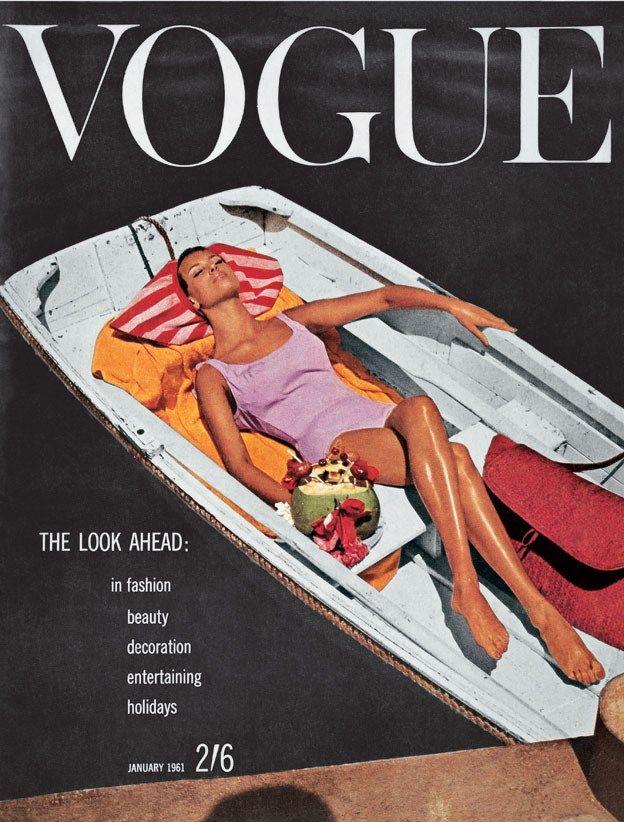 Vintage Vogue cover, January 1961 / Capa retrô da Vogue, Janeiro 1961.