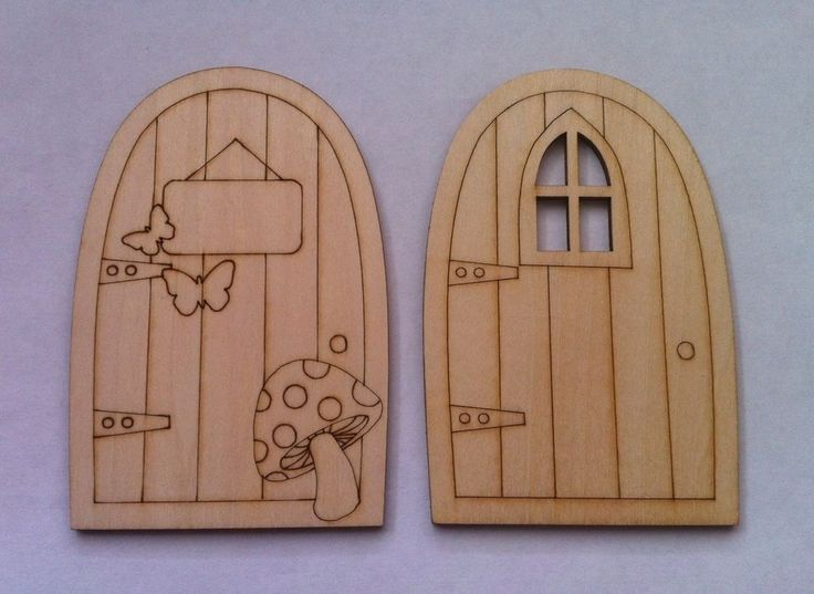 Details about laser cut fairy doors craft kids room for Unfinished fairy door