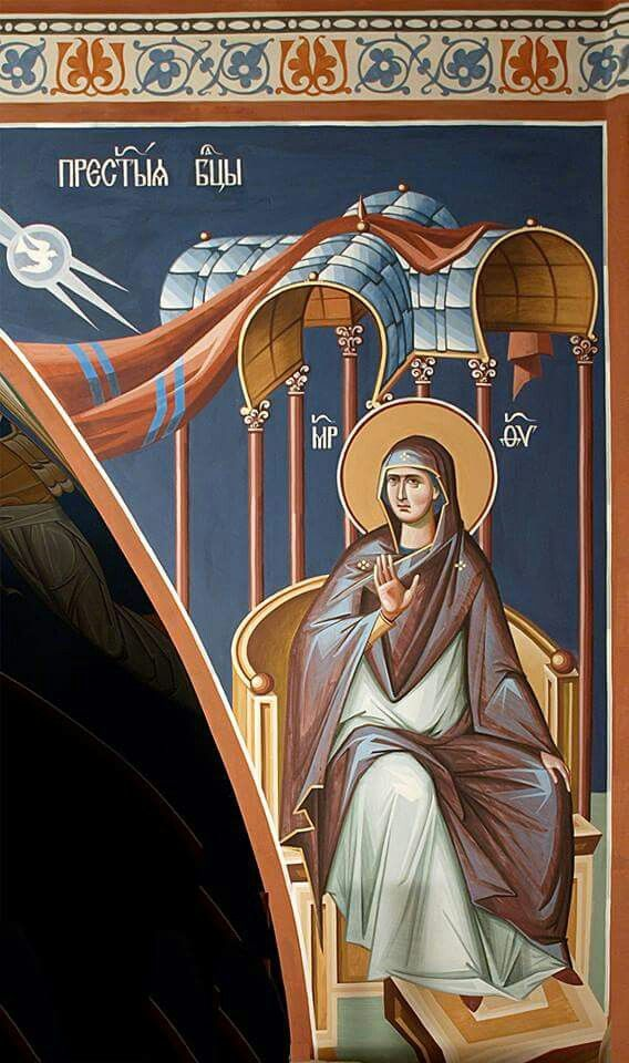 Detail of Our Lady from a larger icon