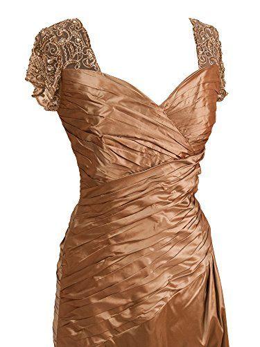 Montage 19949 Mother of the Bride Short Sleeve Long Silk Taffeta Dress