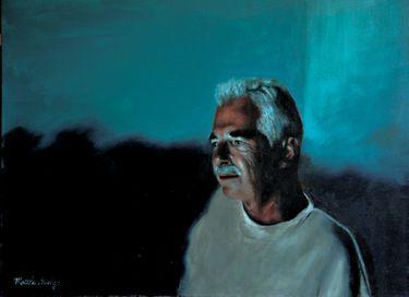 "Saatchi Art Artist Matthew Hickey; Painting, ""Screen time: Mike"" #art"