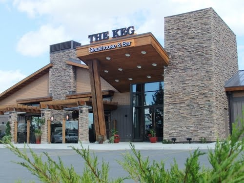 The Keg Steakhouse and Bar.  Located at 4255 Albert St. South in Regina, SK. http://www.kegsteakhouse.com/en/locations/SK/regina/regina-south-keg/