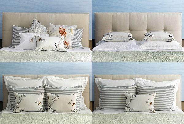 Manieren om je bed op te maken - kussens op je bed