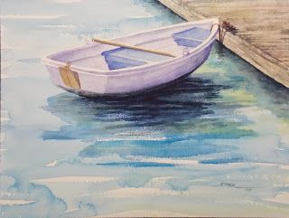 untitled, 14x20 watercolor. $145. painted during a demonstration