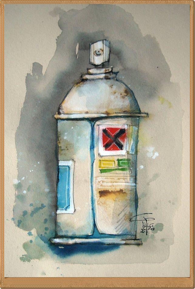Spray - Gianluigi Punzo - Naples - Napoli - Italy - Italia - Watercolor - Acquerello - Aquarelle - Acuarela