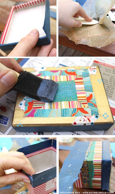 Decoupage Box Tutorial from @Everything Etsy by @Ruth Bleakley