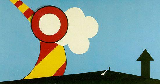 American Landscape, Allan D'Arcangelo, 1967