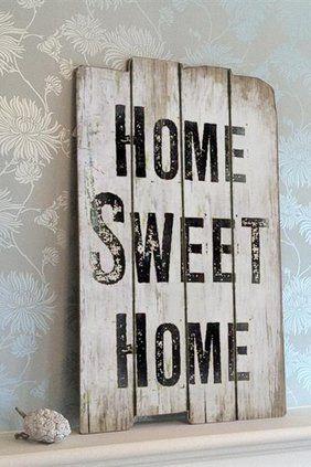 Träskylt, Home Sweet Home - La Finesse