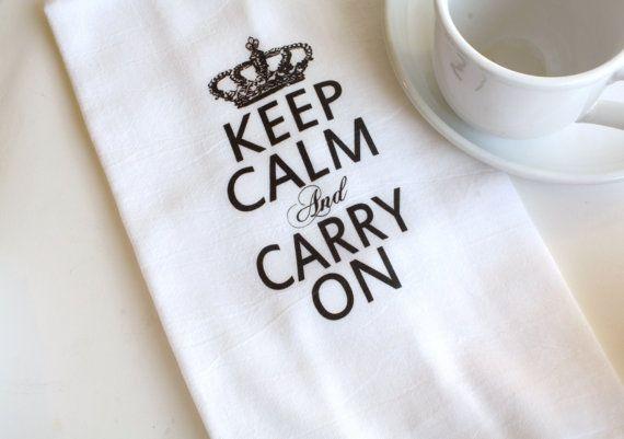 Oh So Homey Kitchen Flour Sack Tea Towel by AppleWhite on Etsy, $10.00