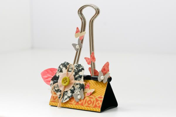 This is easily one of the cutest altered binder clips I have seen!