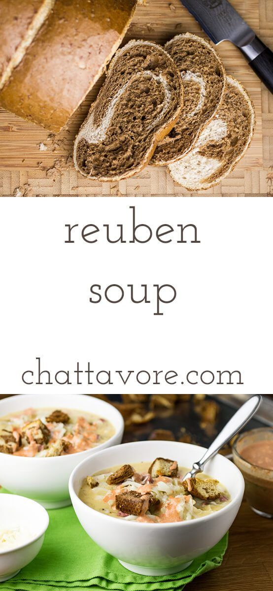 Reuben soup has all the ingredients of a Reuben sandwich in a bowl ...