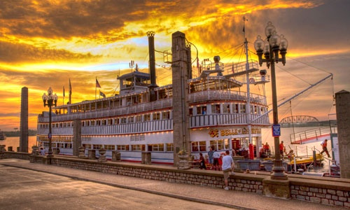 Belle of Louisville, Louisville KY   beautiful boat and also some of God's beautiful sunset design in this picture too