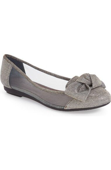 J. Reneé 'Bacton' Mesh Inset Bow Flat (Women) available at #Nordstrom
