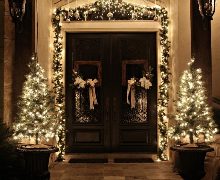 dco nol guirlande lumineuse extrieur et sapins - Couronne Noel Lumineuse Exterieur