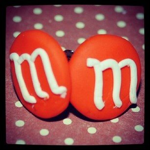 M's  earrings in fimo from Tinawestergaard.dk