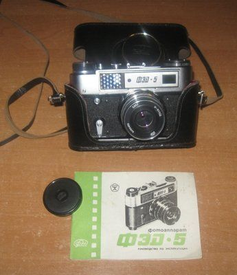 Фотоаппарат Фэд 5. Рабочий фот-ат Ссср. Раритет. Цена Вас порадует Фотоаппарат Фэд 5 в родной